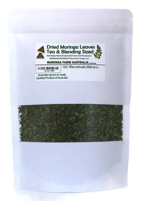 Moringa DRIED LEAVES 100G -Tea/Blending sized - Made To Order