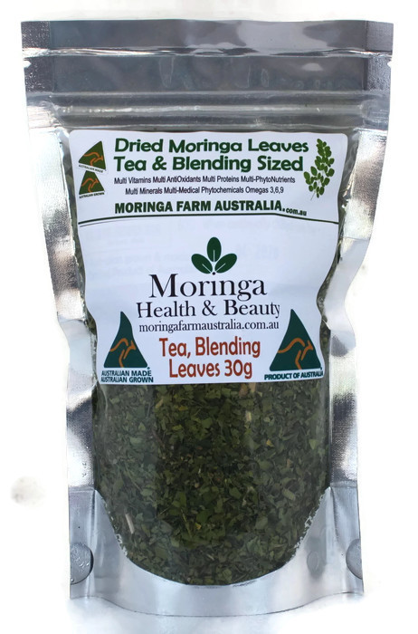 Moringa DRIED LEAVES 30G -Tea/Blending sized - Made To Order
