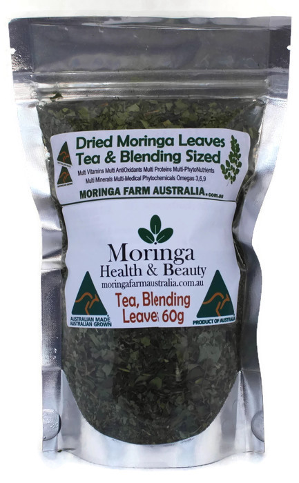 Moringa DRIED LEAVES 60G -Tea/Blending sized - Made To Order
