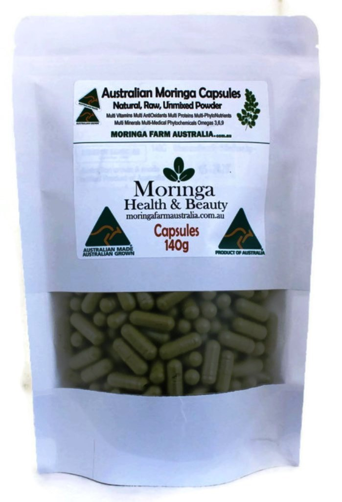 Moringa CAPSULES 140G apprx 265-300 Made To Order