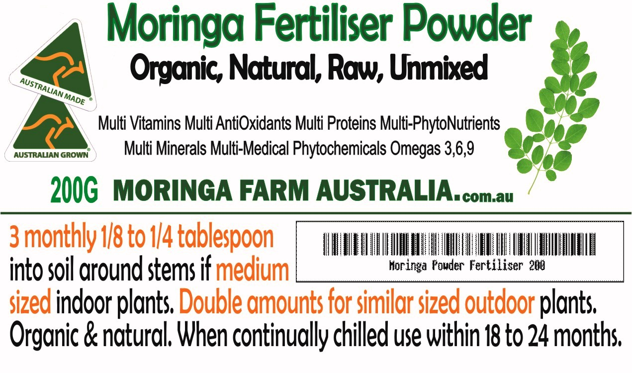 Moringa FERTILISER 200G - Powder Indoor/Outdoor plants