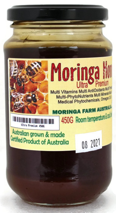 AUSTRALIAN Moringa HONEY 450G ULTRA Premium. Made To Order